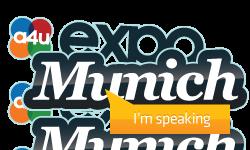 Speaking at A4U expo Europe in Munich
